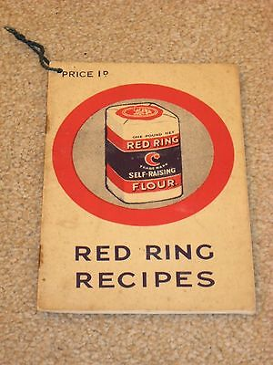 Vintage Red Ring Flour.  Recipe booklet,  H.H. & S. Budgett wholesale grocers