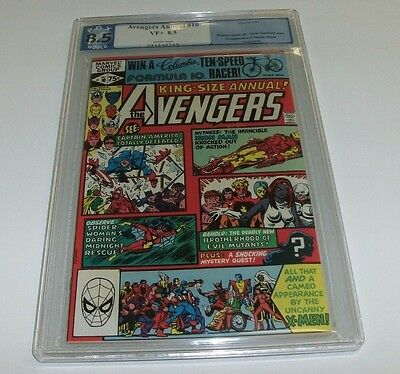 Avengers Annual #10 PGX 8.5 VF+ White Pages not CGC Key Issue 1st App. Rogue
