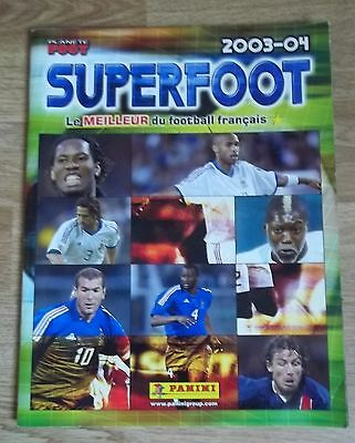 Football album superfoot 2003-04 planète foot incomplet vignettes Panini