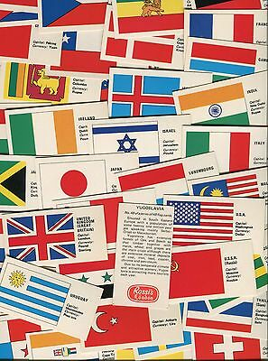 "Rossi's Ice Cream 1975 Full Set Of 48 ""flag Cards"" Trade Cards"