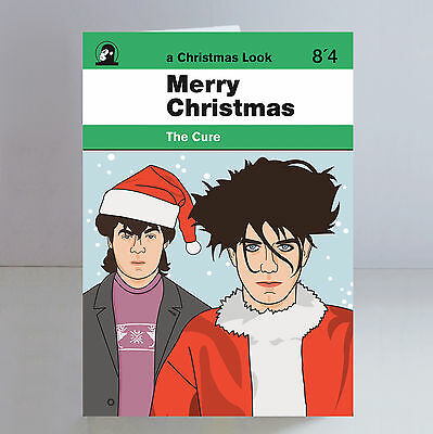 The Cure Ltd Edition A5 Christmas Card Robert Smith Goth Post Punk