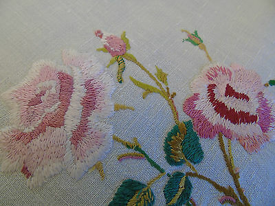 """Vintage Hand Embroidered Table Centre 16""""x18"""""""