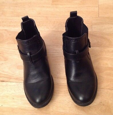 Girls Black Ankle Boots From Matalan. Size 2/34 Good Cond