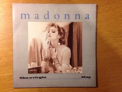 "Madonna Like A Virgin  7"" Single Picture Sleeve Near Mint Condition"