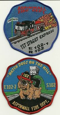 PA: Aspinwall Fire Department Company Patches(Set of 2)