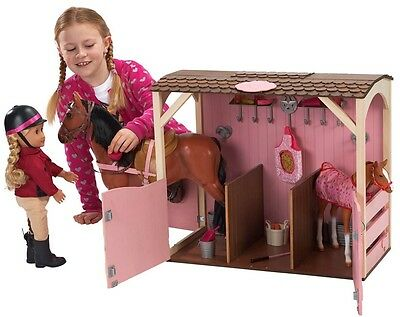 Our Generation Horse Stable Play set Barn Farm With Accessories Kids Toy Gift