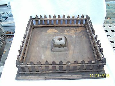 Antique Vintage Feather Wood Tree Stand