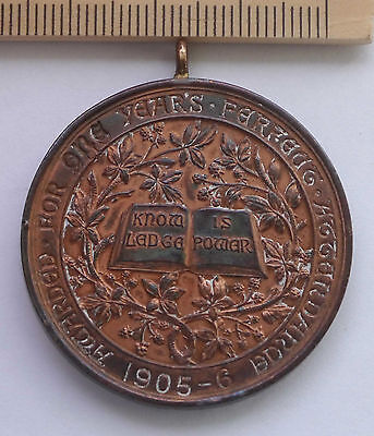 attendance medal  1905 - 1906 Awarded for one years perfect