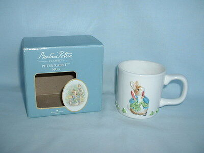 BEATRIX POTTER PETER RABBIT China Mug Cup In Box (BORDER FINE ARTS/BOOK SERIES)