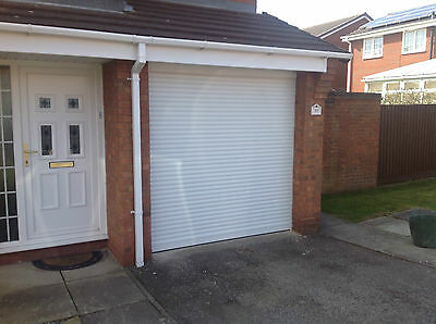Electric Roller Garage Door 7Ft X7Ft New Insulated With 2 Remotes