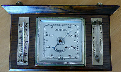 Vintage Bravingtons Ltd. Wall Hanging Barometer, Thermometer & Storm Glass