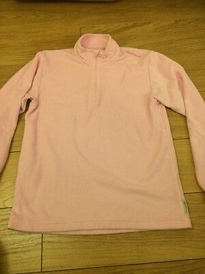 GIRLS PALE PINK FLEECE AGE 14 By Quechua