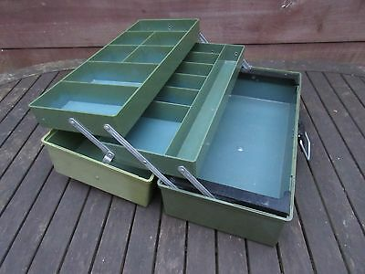 Traditional fishing tackle box in good condition lockable