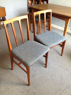 Two Solid Afromosia Teak Dining Chairs