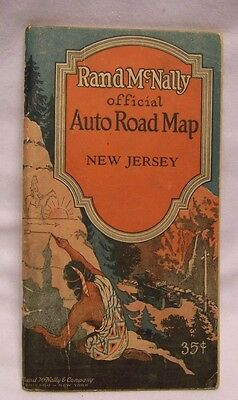 1926 Rand McNally Official Auto Road Map of New Jersey