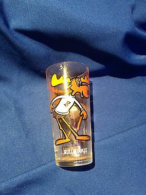 Pair of Rocky and Bullwinkle glass tumblers