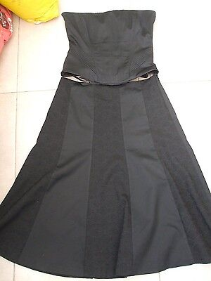 Coast Womans Lovely Black corset Top & Skirt OutFit size 10