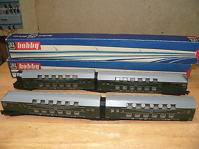 Rare Tt 4 Part Boxed  Double Decker Coach Set In Excellent Condition