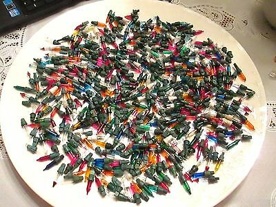 Vtg Xmas Replacement Miniature Lights/bulbs--Huge Lot--Different Sizes