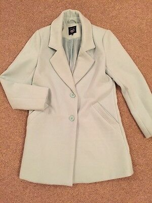 New Look 915 Mint Green Coat Age 12-13 Girls Only Worn Twice