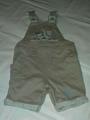 Baby boy brown dungarees (short leg) size 6-9 months from George, Asda