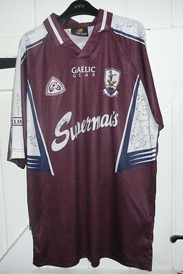Galway LARGE Gaelic Football Shirt  GAA Hurling AUTOGRAPHED - FREE POST GAILLIMH