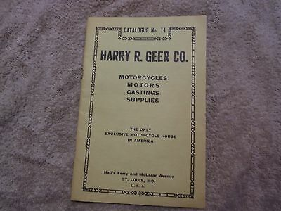 Rare, Harry R. Geer Co.,Motorcycle catalogue No 14