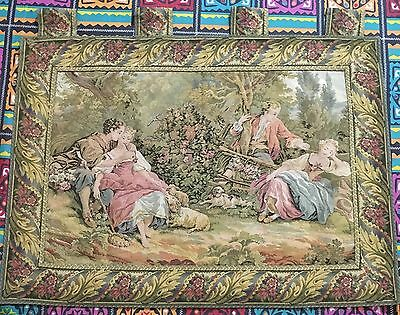 Antique English Aubusson Design Tapestry 54 By74 Cm