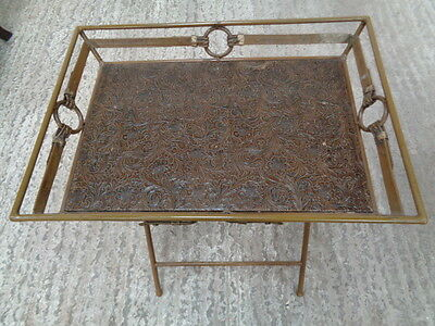 vintage look folding  butlers tray