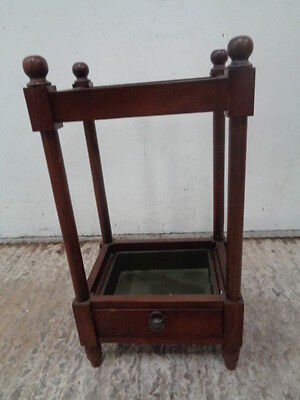 Vintage style  Stick / Umbrella Stand With  Metal Drip Tray