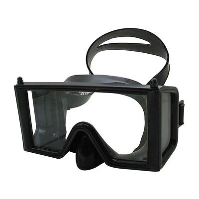 Aqualung Wraparound - Military Stealth Black - No Reflects - US Made diving mask