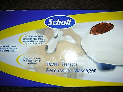 Scholl twin turbo percussion infrared heat massager boxed