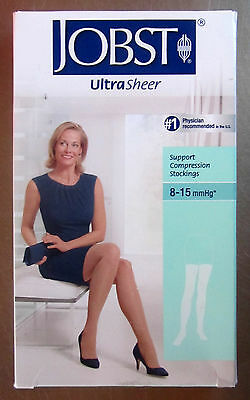 Jobst Thigh High Compress Stockings 8-15mmHg Silky Beige Small CLEARANCE