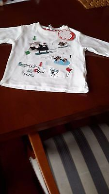 Childs Christmas top 12-18 months BNWT