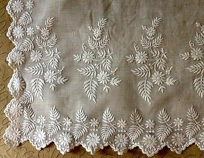 """Antique Ayrshire Adorable Apron Hand Embroidery """"AS IS"""" for Creative Sewing"""
