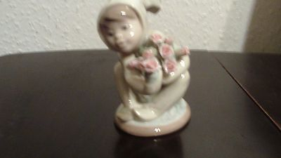 "Retired Lladro boy bunny with flowers ""A New Friend"" no.1506 rare"