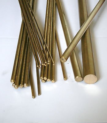 Brass Round Bar 4mm  (Various Lengths Available)