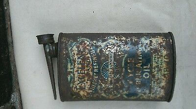 old advertising cycle oil lubrication can
