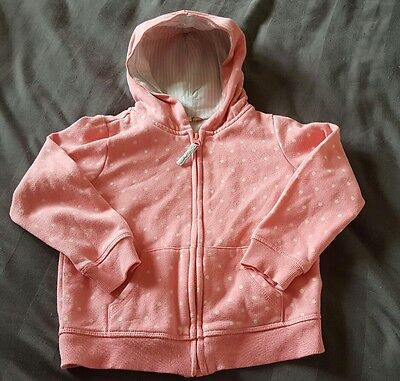 Girls pink zip up hooded jacket from John lewis. Size 5 years