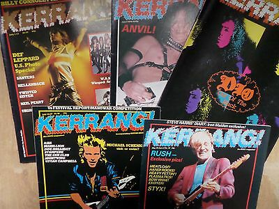 KERRANG early issues 42-43-44-45 & 46 five great copies from 1982