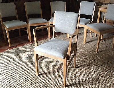 Vintage1940s  Beech Frame Dining Chairs-Set of 6-newly refurbished&reupholstered