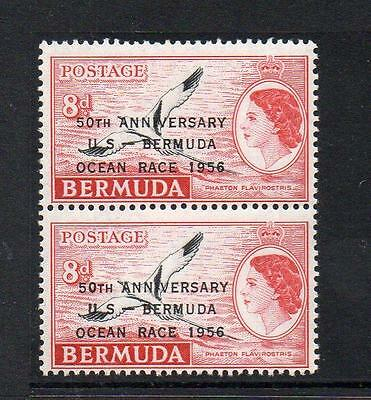 "BERMUDA MNH 1956 SG154 8d OCEAN RACE WITH ""DROPPED O"" FLAW"