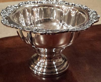 Vintage Wallace Baroque Silverplate Footed Sauce Bowl or Compote 227