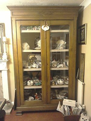 Victorian large bookcase armoire cupboard
