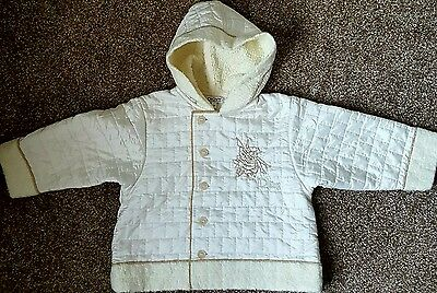 Girls Dkny Ivory Cream Coat Jacket Hood Autumn Winter Age 2 Years