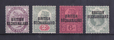 BECHUANALAND 1891-1904 Mint Hinged QV Set of 4 Stamps CV £45