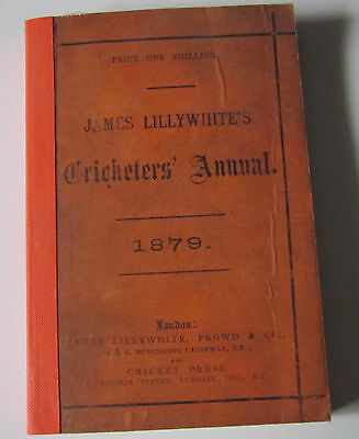 JAMES LILLYWHITES CRICKETERS ANNUAL 1879 with plate