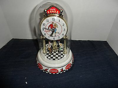 Coca-Cola Anniversary Diner Dome Clock-Tested and works