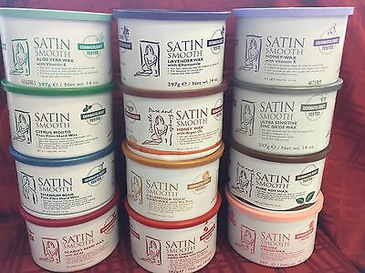 12 Cans(1-Case) Satin Smooth Wax,lavender,aloe,cream,zinc Oxide,honey,cherry Wax
