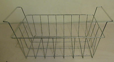 Vintage Rectangular Wire Storage Basket w/ Handles Garden Country Decor Art
